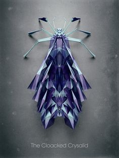 Artist Imagines the Geometric Insects of a Polygonal Planet in Digital Illustration Series