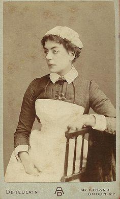 CDV Unidentified Nurse,The Strand London