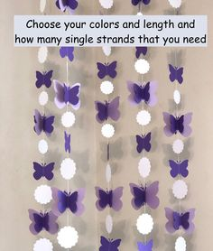 Excited to share the latest addition to my shop: Butterfly Baby Shower Decorations - Purple Butterfly Birthday Decorations - Butterfly Nursery DIY Mobile - Butterfly Backdrop Garlands Butterfly Nursery, Butterfly Baby Shower, Baby Shower Purple, Baby Girl Shower Themes, Baby Shower Decorations For Boys, Purple Butterfly, Birthday Party Decorations Diy, Purple Party Decorations, Birthday Backdrop