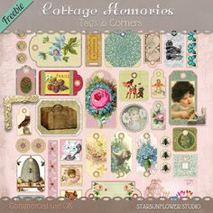 Friday's Guest Freebies ~ Cottage Memories & Pretty Things For You ♥♥Join 3,400 people. Follow our Free Digital Scrapbook Board. New Freebies every day.♥♥