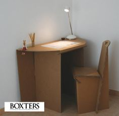 Cardboard desk and chair