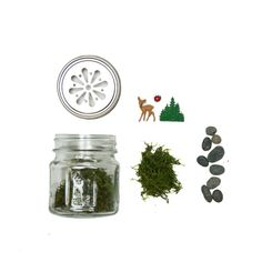 Terrarium Kit from Acme Party Box Company (www.acmepartybox.com) Th is whimsical Terrarium Kit gives customers their own mini outdoor sanctuary, complete with pebbles, moss, glass mason jar, and tiny vintage toys for decoration. All customers need to add is their favorite piece of flora.