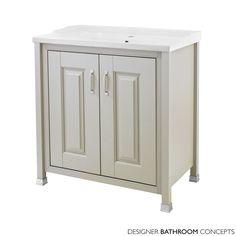 English Heritage Designer 800mm Stone Grey 2 Door Vanity Unit - £528