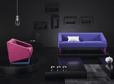 Beltá LOOK sofa and armchair by Vicente Gallega