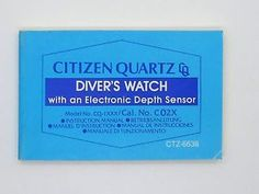 The original Citizen Promaster Aqualand manual for all watches in 5 languages.