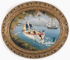 Buy online, view images and see past prices for FRAMED OVAL PAINTING. Invaluable is the world's largest marketplace for art, antiques, and collectibles. Mermaid Art, Mermaid Paintings, Tarot, Primitive Painting, Oval Frame, Naive Art, Ship Art, Painting Inspiration, Framed Art