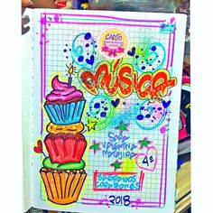 Page Decoration, School Notebooks, Diy Notebook, Typography, Lettering, Cover Pages, Diy And Crafts, Projects To Try, Banner