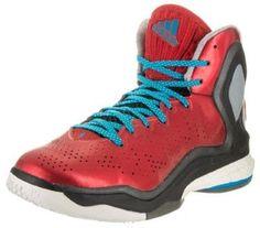 newest 2b973 6b72f adidas Mens D Rose 5 Boost ScarletSolblueBlack Basketball Shoe 11 Men US