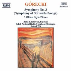 Górecki's Symphony No. 3 is one of the most haunting pieces I have ever experienced. It provided the background music for a documentary about a South American rubber plantation that resulted in the deaths of almost every person who worked there. After watching this program, I just had to find a recording of it. Naturally, one has to be in a receptive mood to appreciate it. It is not music to be enjoyed.
