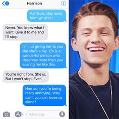 PT 8 (sorry for the pronouns and time change ! also this is tom texting haz. Avengers Quotes, Avengers Imagines, Funny Marvel Memes, Marvel Jokes, Text Imagines, Bucky, Parker Spiderman, Funny Tom, Tom Holland Imagines
