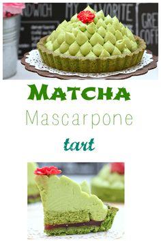 Matcha mascarpone tart