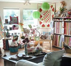 Interior of Fabric and Quilt Shoppe