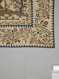 Coverlet, Pictorial Pattern - Met museum of Art - loads of photos of this closeup at the site