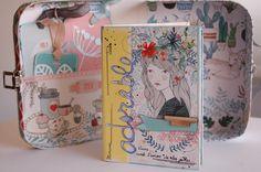 Mini àlbum amb maleta fet al taller de la Judyscrap i la Marta juez..