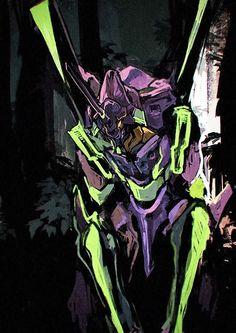 - Evangelion - EVA 01 ↩それはすぐに私は行くべきであ☾る。 ∑(O_O;) ☕ upload is LG G5/2018.10 with ☯''地獄のテロリスト''☯ (о゚д゚о)♂ Neon Genesis Evangelion, Manga Art, Anime Art, Mecha Anime, Robot Art, Fantasy Warrior, Arte Pop, Star Wars Art, Anime Comics