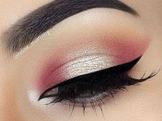 Cómo maquillarte con sombra rosa.