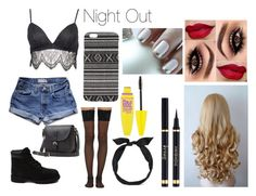 """""""Night Out"""" by kellytaylor ❤ liked on Polyvore featuring мода, Abercrombie & Fitch, Rebecca Stella For Nelly, Toast, Timberland, Wolford, With Love From CA, yunotme и Maybelline"""