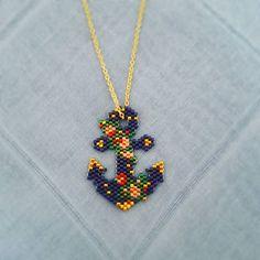 ⚓Miyuki kolye ⚓ #miyuki #miyukitakı #miyukidelica #miyukifashionboutique #taki #takitasarim #aksesuar #moda #trend #kolye #miyukikolye #beadedjewelry Beaded Jewelry Designs, Seed Bead Jewelry, Seed Bead Earrings, Beaded Earrings, Peyote Stitch Patterns, Beading Patterns, Seed Bead Crafts, Motifs Perler, Bead Loom Bracelets
