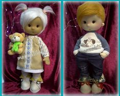 sigueme en mi canal de youtube manualilolis Tela, Handmade Rag Dolls, Beautiful Things, Trapillo, Tutorials, Patterns, Pictures