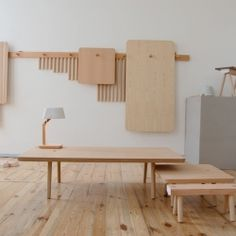 Wooden Peg Furniture is a minimalist design created by Netherlands-based designers StudioGorm.