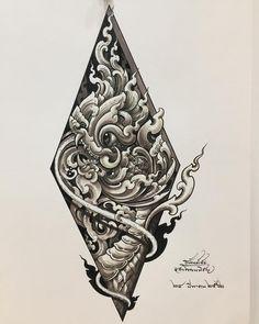 Hanya Tattoo, Sak Yant Tattoo, Khmer Tattoo, Thai Tattoo, Thailand Tattoo, Thailand Art, Tatto Old, Back Tattoo, Mini Tattoos
