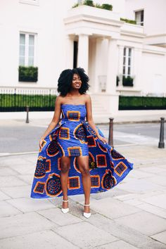 Beautiful Ankara Street Styles To Glam Up Your Looks - Afro Fahionista African Fashion Ankara, African Fashion Designers, Latest African Fashion Dresses, African Print Fashion, Africa Fashion, African Wear, African Dress, African Style, African Prints