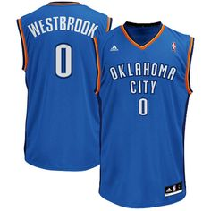 Russell Westbrook Oklahoma City Thunder adidas Replica Road Jersey - Light Blue