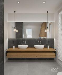 Wnętrzarska rewolucja Magdy J. Bathroom Renos, Bathroom Furniture, Master Bathroom, Bathroom Vanity Designs, Bathroom Design Luxury, Small Bathroom Vanities, Bathroom Design Inspiration, Bad Inspiration, Bad Styling