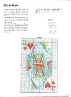 Cross Stitch Magazine Number 36 - Page 24 playing cards king queen part 2