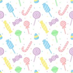 Cute pastel candy sweet desserts seamless pattern Cute Food Wallpaper, Cupcakes Wallpaper, Cute Patterns Wallpaper, Cute Wallpaper For Phone, Kids Wallpaper, Kawaii Wallpaper, Cute Backgrounds For Iphone, Colorful Backgrounds, Logo Dulce