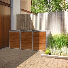 modern shed for garbage recycling bins #recyclebins