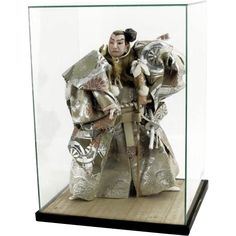 Large Japanese Kabuki Doll of a Samurai, with Display Case from Barkus Farm Antiques, Collectibles and Fine Art on Ruby Lane