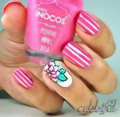 Pink cubbiful #nail #nails #nailart