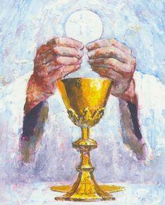 The sacrament of Holy Communion is a Blessing that feeds my soul. Thank you, God. Religious Pictures, Jesus Pictures, Religious Art, Religious Education, Première Communion, First Holy Communion, Catholic Mass, Catholic Prayers, Roman Catholic