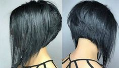 *** Boblines are realy trendy! Angled Bob Hairstyles, Bob Hairstyles For Fine Hair, Haircut For Thick Hair, Short Haircut, Cool Hairstyles, Melena Bob, Long Bob Styles, Corte Y Color, Auburn Hair