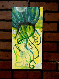 8x16 inches Colorful Original Acrylic Painting Primed by ArtsiAli, $35.00