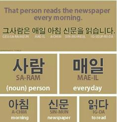 learn korean - Newspaper