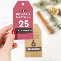 Etiquetas metalizadas para regalos navideños #mrwonderful #tags #christmas #scrapbook