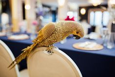 Gold Parrot by Kate Dawes Flower Design  Photo by When Elephant Met Zebra