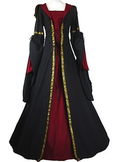 dornbluth.co.uk - Medieval Dresses - the skirt of the dress i'm making will look something like this, not sure about the bodice though.