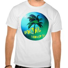 A decorative round blue and green sphere, with the graphics of a palm tree in the middle and the yellow fun text reading Pool Boy on it. Great summer fun t-shirt for guys. Customize it and put on a different style shirt if you want. #fun #summer #mens #guys #pool #boy #cleaner #t-shirts #tees #tshirts #tank #muscle #humor