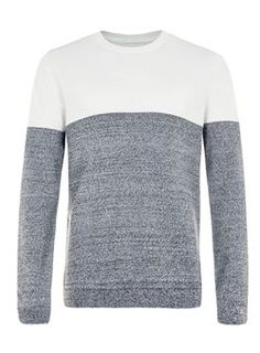 White and Grey Lightweight Sweater