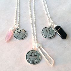 Zodiac Sign Necklace  Astrology Charm Birthday  by MayanRoseShop, $19.95