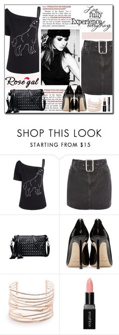 """Rosegal"" by polybaby ❤ liked on Polyvore featuring Topshop, Jimmy Choo, Alexis Bittar, Smashbox and NARS Cosmetics"