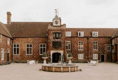 Large exposed red brick building, tall entry way in centre and fountain centring the driveway Dulwich Picture Gallery, Carlton House, Wedding Venues Uk, Classic Building, Liverpool Street, Wedding Venue Inspiration, Huge Windows, House Photography, Brick Building