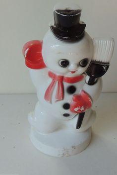Vintage plastic snowman