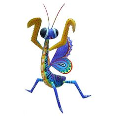Wooden sculptures mantis mexican folk art animal by fireagate, $455.00