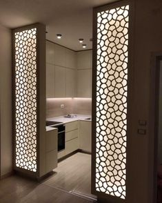 Chic Glass Partition Design Ideas For Your Living Room 46 - Ceiling design Interior Design Trends, Home Room Design, Kitchen Room Design, Room Door Design, Living Room Partition Design, Pooja Room Design, Bedroom Design, Interior Design Boards, Interior Design Projects