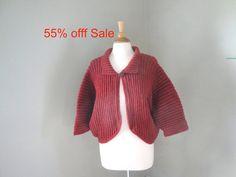 Cozy Knit Sweater Dolman Sleeve Cardigan Bed Jacket by Girlpower