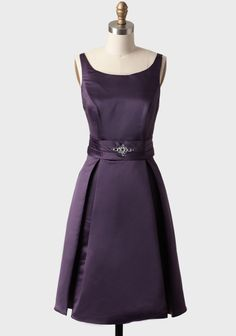 Dinner Party Dress In Purple | Modern Vintage Bridesmaid Dresses | Modern Vintage Bridal